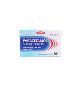 PARACETAMOL TABS 500MG 100'S (EXETER)